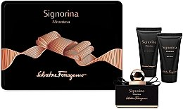Düfte, Parfümerie und Kosmetik Salvatore Ferragamo Signorina Misterioasa - Set(edp/50ml + b/lot/50ml + sh/gel/50ml)