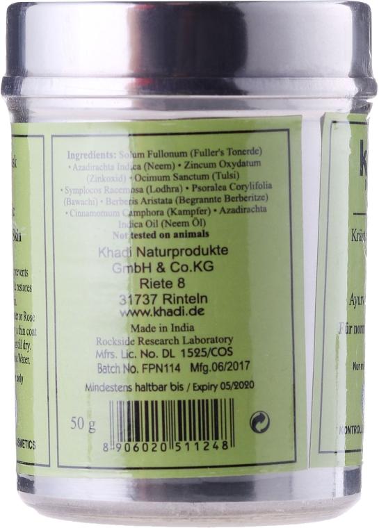 Erfrischende und ausgleichende Gesichtsmaske für normale bis fettige Haut - Khadi Neem Herbal Face Mask — Bild N2