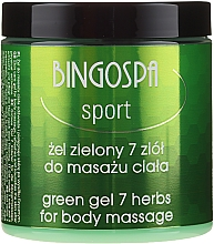 Düfte, Parfümerie und Kosmetik Körpermassagegel mit 7 Kräutern - BingoSpa Massage Gel With Seven Herbs