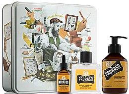 Düfte, Parfümerie und Kosmetik Rasierpflegeset (Rasierbalsam 100ml + Shampoo 200ml + Rasieröl 30ml) - Proraso Wood & Spice Beard Kit