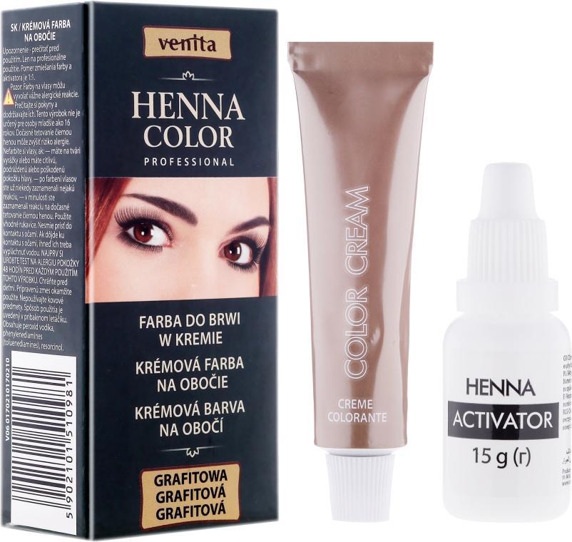 Cremefarbe für Augenbrauen - Venita Henna Color