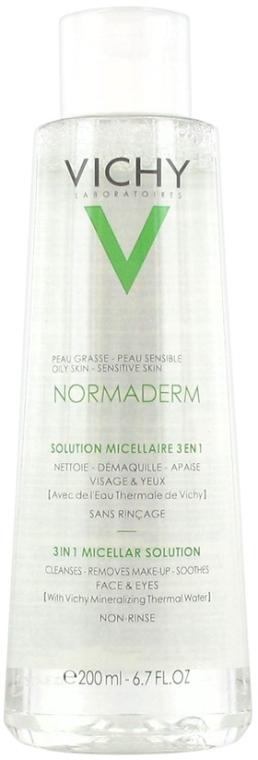 3in1 Mizellen-Reinigungsfluid zum Abschminken für fettige und empfindliche Gesichtshaut - Vichy Normaderm Micellar Solution — Bild N1