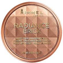 Düfte, Parfümerie und Kosmetik Mehrfarbiger Schimmerpuder - Rimmel London Radiance Brick Bronzer