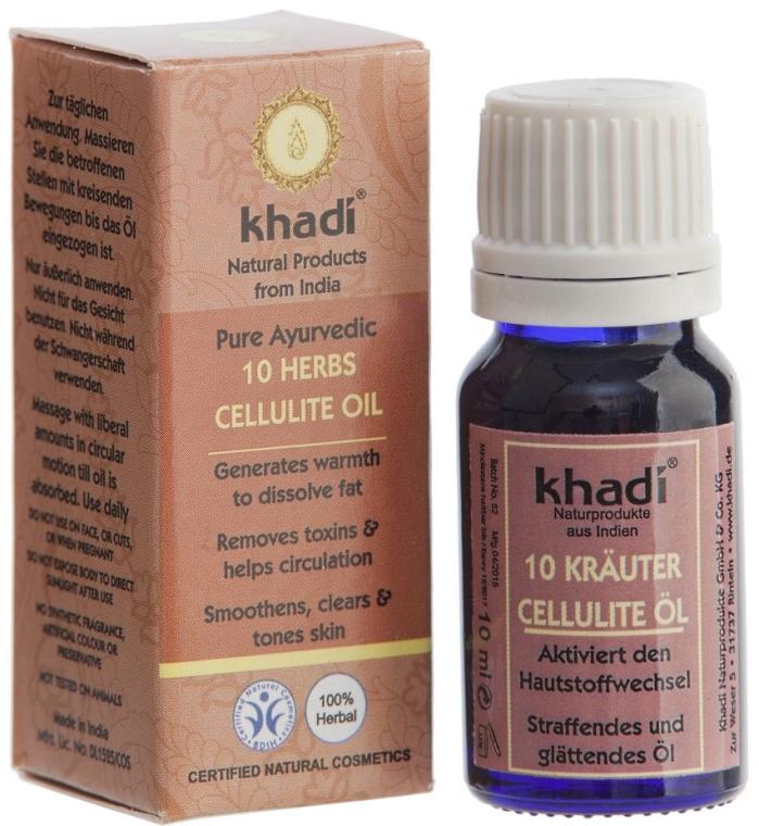 "Anti-Cellulite Öl ""10 Kräuter"" - Khadi — Bild N3"