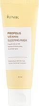 Düfte, Parfümerie und Kosmetik Regenerierende Nachtmaske mit Vitaminen und Propolis für das Gesicht - iUNIK Propolis Vitamin Sleeping Mask
