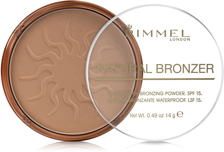 Wasserfester Bronzepuder LSF 15 - Rimmel Natural Bronzer Powder