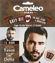 Düfte, Parfümerie und Kosmetik Einwegfarbe zum sofortigen Kaschieren grauer Haare für Haar, Bart und Schnurrbart - Delia Cameleo Men