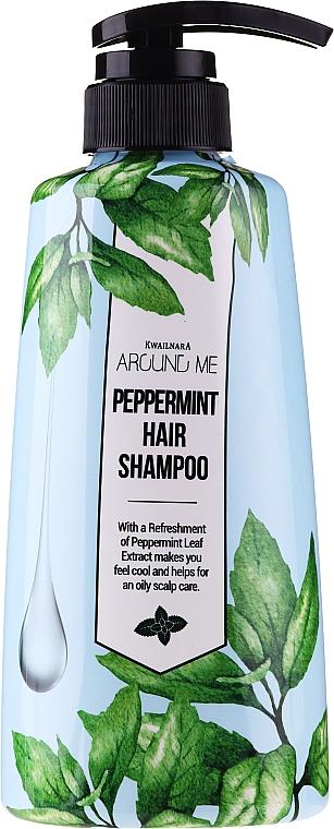 Shampoo mit Pfefferminzextrakt für fettiges Haar - Welcos Around Me Peppermint Fresh Hair Shampoo