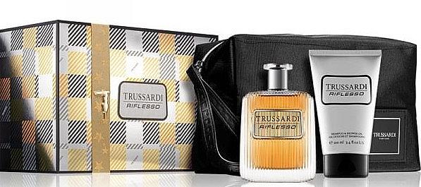 Trussardi Riflesso - Duftset (Eau de Toilette 100ml + 2in1 Shampoo und Duschgel 100ml + Kosmetiktasche)