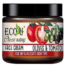 Düfte, Parfümerie und Kosmetik Feuchtigkeitsspendende Gesichtscreme für trockene und empfindliche Haut, Oliven und Tomaten - Eco U Face Cream