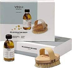 Düfte, Parfümerie und Kosmetik Körperpflegeset - Veoli Botanica Rejuvenating Body (Körperöl mit Rosmarin 136g + Massagebürste)