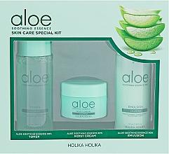 Düfte, Parfümerie und Kosmetik Gesichtspflegeset - Holika Holika Aloe (Toner 50ml + Emulsion 50ml + Creme 20ml)
