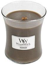 "Düfte, Parfümerie und Kosmetik WoodWick Hourglass Candle Oudwood - Duftkerze im Glas "" Oudwood """
