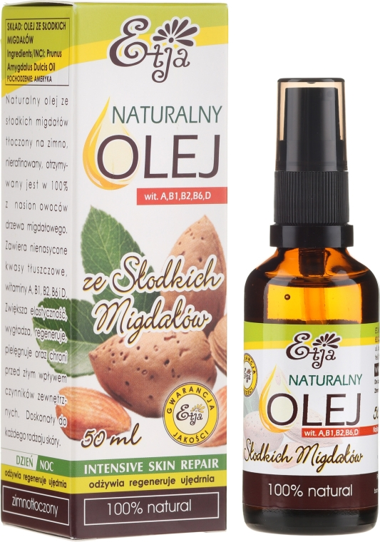 100% natürliches Mandelöl - Etja