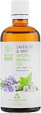 Düfte, Parfümerie und Kosmetik Massageöl für den Körper mit Lavendel und Minze - Bulgarian Rose Herbal Care Natural Massage Oil