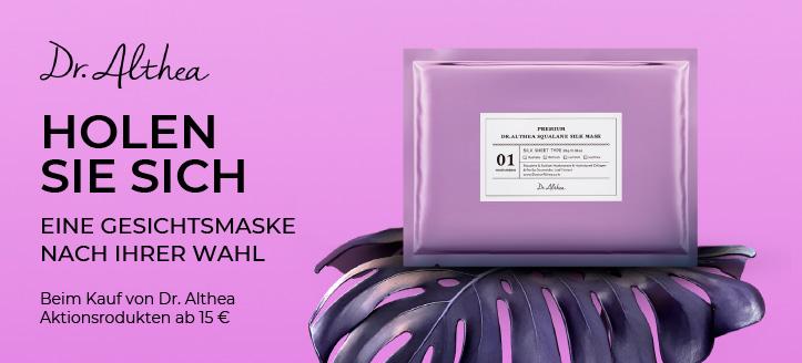 Holen Sie sich eine Gesichtsmaske nach Ihrer Wahl Beim Kauf von Dr. Althea Aktionsrodukten ab 15 €
