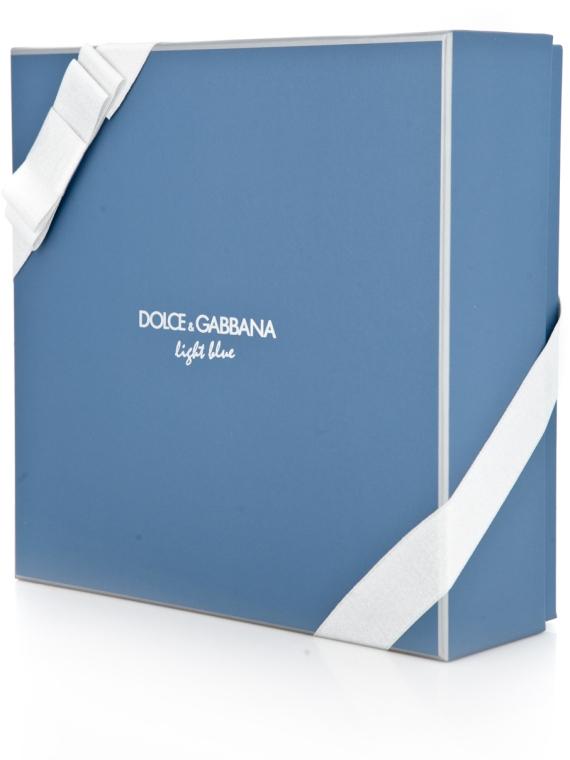Dolce & Gabbana Light Blue Pour Homme - Duftset (Eau de Toilette 125ml + Duschgel 50ml + After Shave Balsam 75ml) — Bild N4