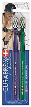 Düfte, Parfümerie und Kosmetik Zahnbürste Ultrafein CS 5460 violett, grün 2 St. - Curaprox Ultra Fine