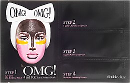 Düfte, Parfümerie und Kosmetik 4in1 Gesichtspflege - Double Dare OMG! 4in1 Kit Zone System Mask (Augenpatches + T-Zone Maske + U-Zone Maske + Gesichtscreme)