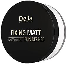 Düfte, Parfümerie und Kosmetik Loser fixierender und mattierender Gesichtspuder - Delia Fixing Matt Skin Defined Loose Powder