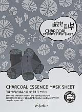 Düfte, Parfümerie und Kosmetik Feuchtigkeitsspendende und nährende Tuchmaske für das Gesicht mit Holzkohle - Esfolio Pure Skin Essence Charcoal Mask Sheet