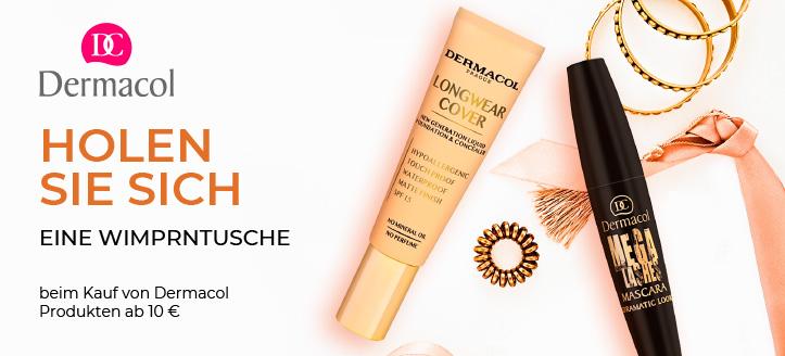 Holen Sie sich eine Wimperntusche geschenkt beim Kauf von Dermacol Produkten ab 10 €