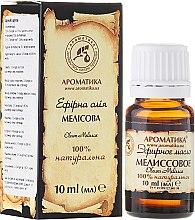 Düfte, Parfümerie und Kosmetik Ätherisches Bio Zitronenmelissenöl - Aromatika