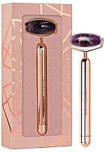 Düfte, Parfümerie und Kosmetik Massageroller für das Gesicht aus Amethyst mit Vibrationsfunktion - Crystallove Vibrating Amethyst Roller
