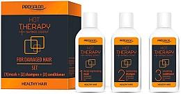 Düfte, Parfümerie und Kosmetik Pflegeset für stapaziertes Haar - Prosalon Hot Therapy (Haarmaske 50ml + Shampoo 50ml + Conditioner 50ml)