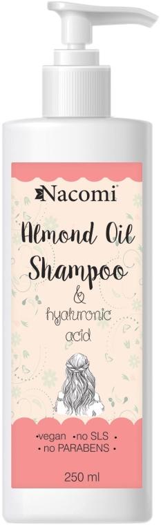 Pflegeshampoo mit Mandelöl, Hyaluronsäure und Reisprotein - Nacomi Almond Oil Shampoo