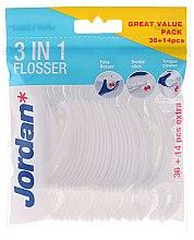 Düfte, Parfümerie und Kosmetik 3in1 Zahnseide-Sticks 36 + 14 St. - Jordan 3-in-1 Flosser Dental Stick & Tongue Cleaner