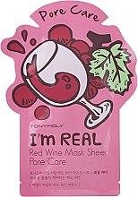 Düfte, Parfümerie und Kosmetik Tuchmaske mit Rotwein - Tony Moly I'm Real Red Wine Mask Sheet