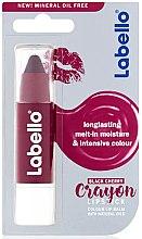 Düfte, Parfümerie und Kosmetik Lippenbalsam in Stiftform mit Schwarzkirschgeschmack - Labello Crayon Black Cherry Caring Lip Balm