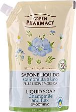 Düfte, Parfümerie und Kosmetik Flüssigseife Kamille und Flachs - Green Pharmacy (Doypack)