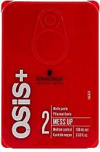 Düfte, Parfümerie und Kosmetik Mattierendes Haarwachs für mittleren Halt - Schwarzkopf Professional Osis+ Mess Up Matt Gum