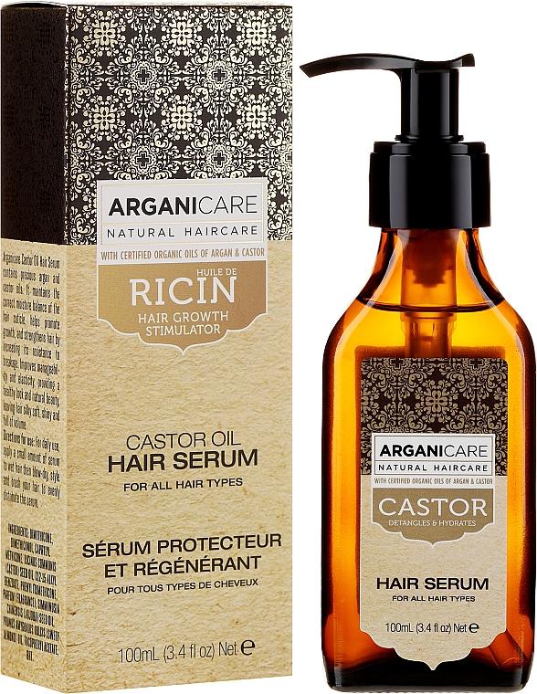 Serum zum Haarwachstum mit Rizinusöl - Arganicare Castor Oil Hair Serum