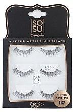 Düfte, Parfümerie und Kosmetik Set Künstliche Wimpern - Sosu by SJ Makeup Artist Multipack Eyelashes Gigi