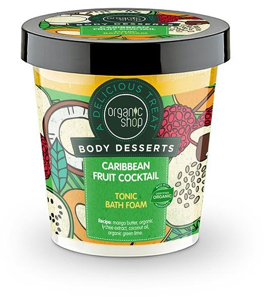 Erfrischender Badeschaum mit Bio Mangobutter und Litschi-Extrakt - Organic Shop Body Desserts Caribbean Fruit Cocktail — Bild N1