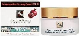 Düfte, Parfümerie und Kosmetik Verjüngende Gesichtscreme für mehr Elastizität mit Granatapfel - Health And Beauty Pomegranates Firming Cream SPF 15