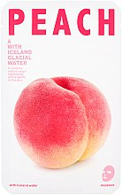 Düfte, Parfümerie und Kosmetik Feuchtigkeitspendende Tuchmaske mit Gletscherwasser aus Island und Pfirsichextrakt - The Iceland Peach Mask