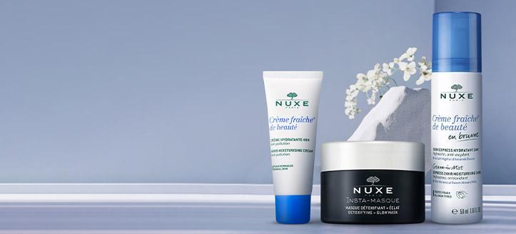Holen Sie sich eine feuchtigkeitsspendende Gesichtscreme geschenkt beim Kauf von NUXE Produkten ab 22 €