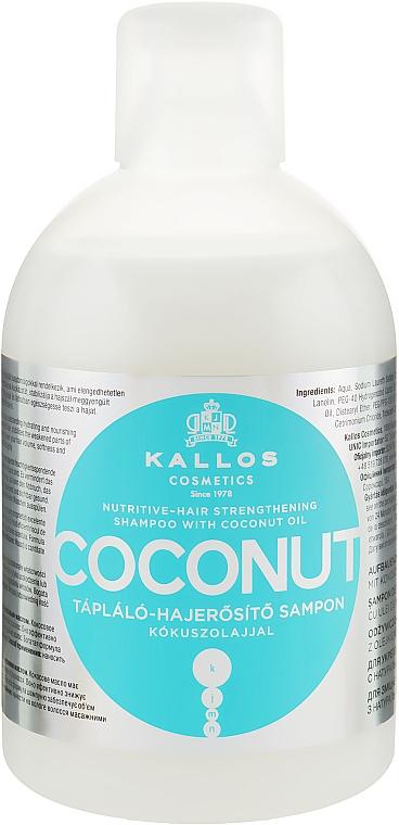 Aufbauendes-stärkendes Shampoo mit Kokosöl - Kallos Cosmetics Coconut Shampoo