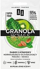 Düfte, Parfümerie und Kosmetik Zweistufige Peelingmaske für normale und Mischhaut - AA Granola Bowls