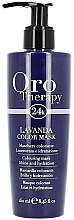 Düfte, Parfümerie und Kosmetik Aufhellende Haarfärbemaske für natürliches und gefärbtes Haar mit Goldkristallen, Keratin und Arganöl - Fanola Oro Therapy Lavanda Color Mask