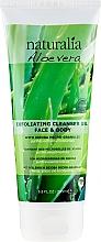Düfte, Parfümerie und Kosmetik Reinigendes Peeling-Gel für Gesicht und Körper mit Aloe Vera - Naturalia Aloe Vera Exfoliating Cleanser Gel Face & Body