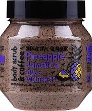 Düfte, Parfümerie und Kosmetik Glättendes und aufweichendes Körperpeeling mit Kaffee und Ananas - MonoLove Bio Pineapple-Jamaica Tonus & Smoothness Body Scrub