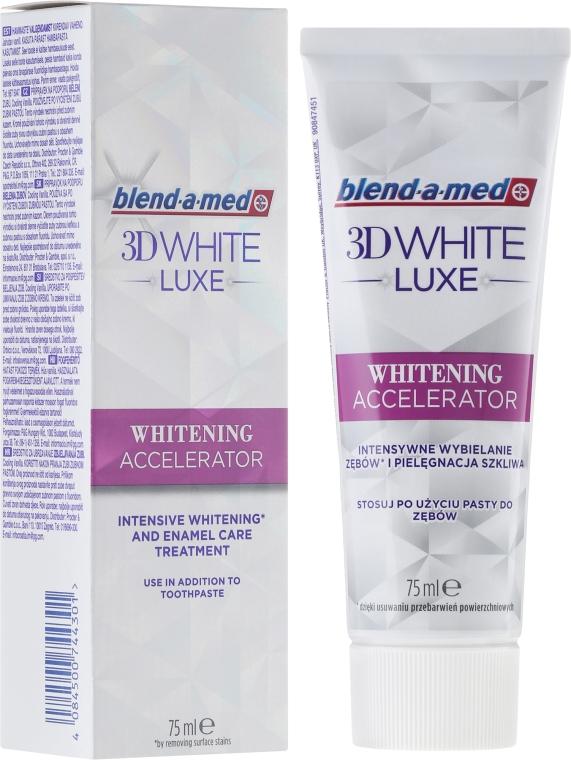 Aufhellende Zahnpasta 3D White Luxe Whitening Accelerator - Blend-a-med 3D White Luxe Whitening Accelerator