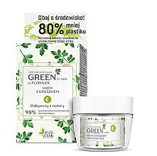 Düfte, Parfümerie und Kosmetik Gesichtspflegeset - Floslek Green For Skin (Gesichts-, Hals- und Dekolletécreme für die Nacht 50ml + Kosmetikglas)