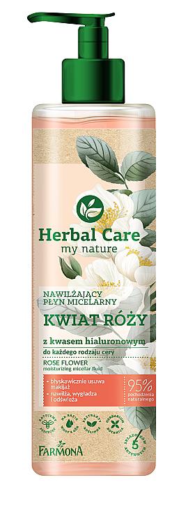 Feuchtigkeitsspendendes Mizellen-Reinigungswasser mit Rosenblüten und Hyaluronsäure - Farmona Herbal Care Micellar Water