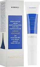Düfte, Parfümerie und Kosmetik Feuchtigkeitsspendende Augencreme gegen dunkle Ringe und Schwellungen mit griechischem Joghurt und Hyaluronsäure - Korres Greek Yogurt Eye Cream